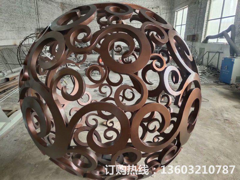 304不锈钢镂空球雕塑3
