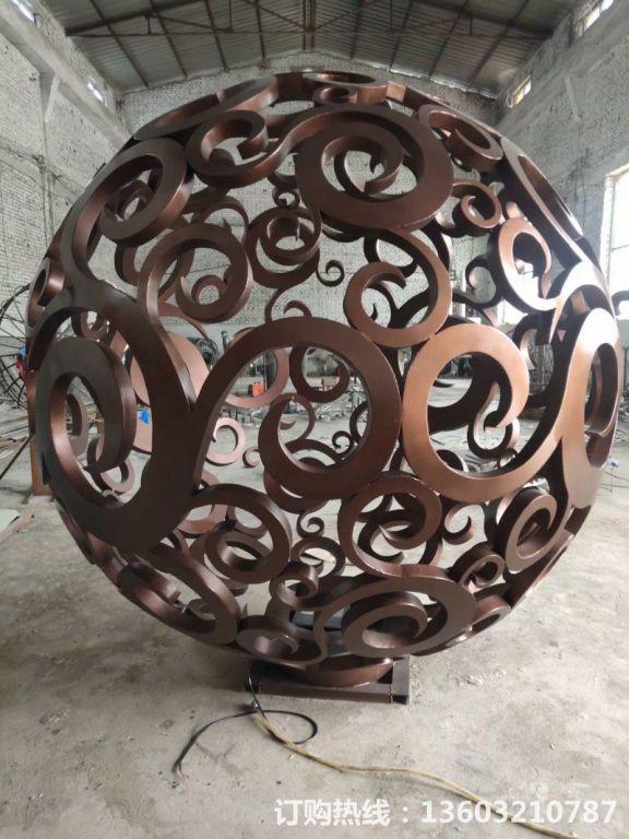 304不锈钢镂空球雕塑6