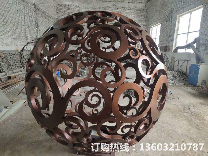 304不锈钢镂空球雕塑4