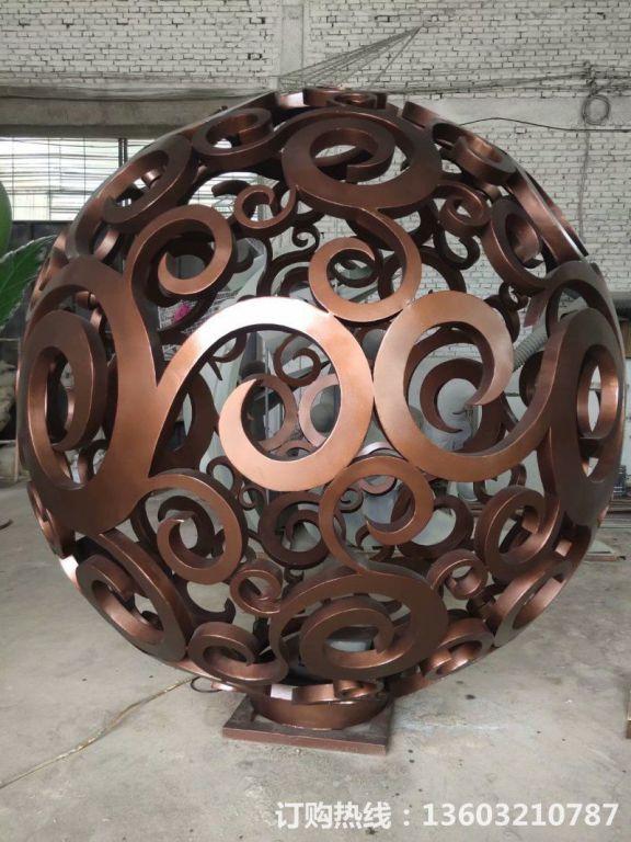 304不锈钢镂空球雕塑7