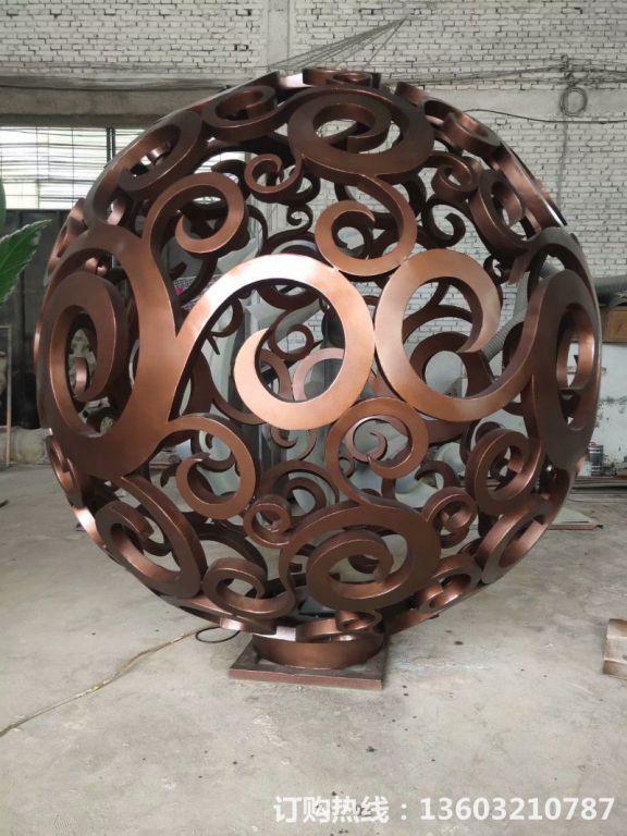 304不锈钢镂空球雕塑8