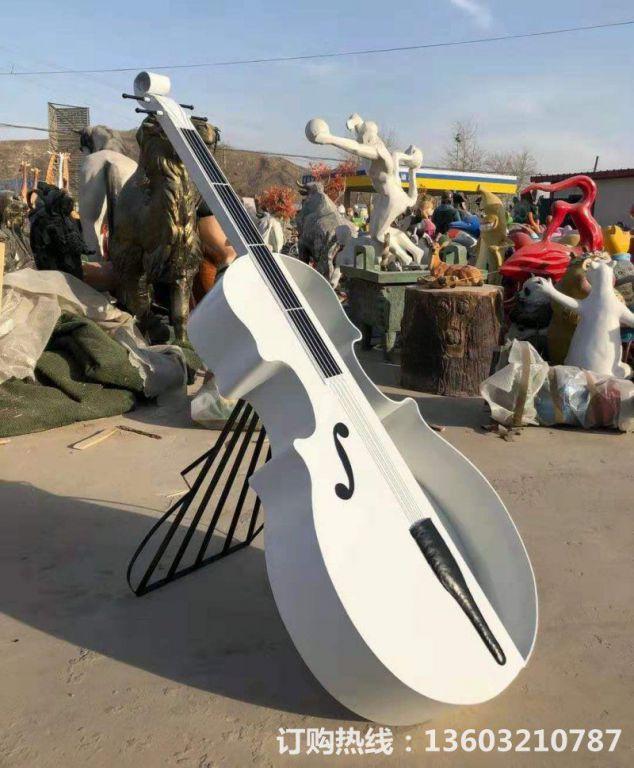 2米高吉他雕塑,不锈钢吉他雕塑,种花吉他雕塑定制1