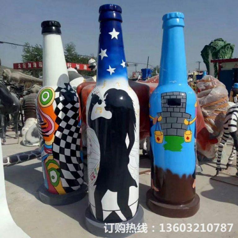 ktv酒瓶雕塑 质美价廉玻璃钢艺术品 (1)
