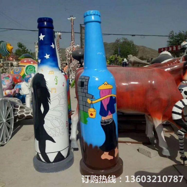 ktv酒瓶雕塑 质美价廉玻璃钢艺术品 (5)