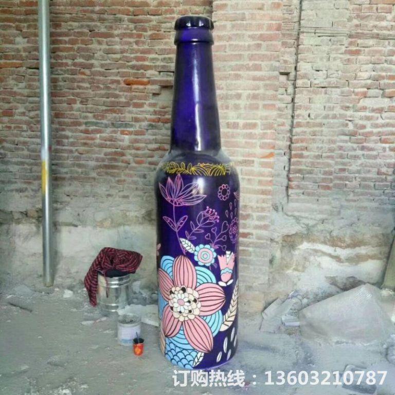 ktv酒瓶雕塑 质美价廉玻璃钢艺术品 (8)