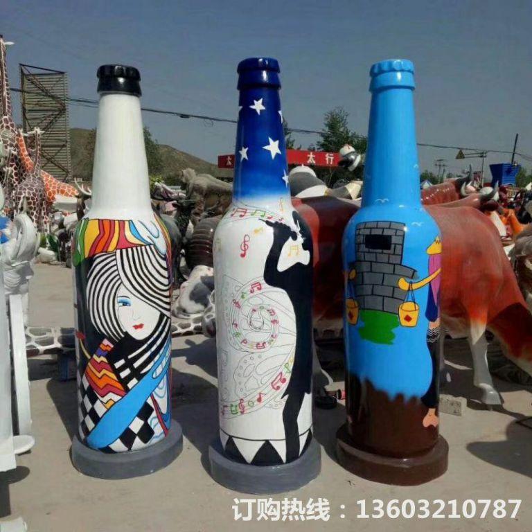 ktv酒瓶雕塑 质美价廉玻璃钢艺术品 (7)