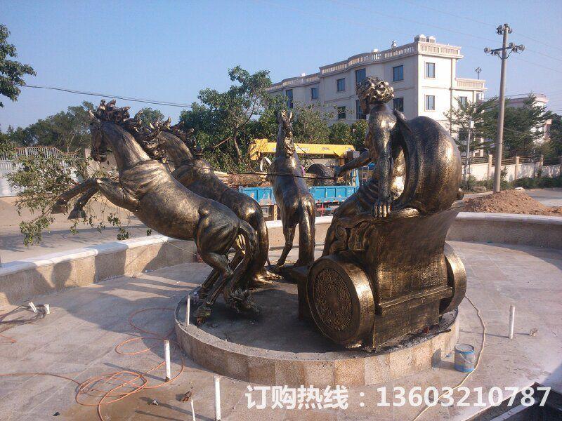 阿波罗战车仿铜雕2
