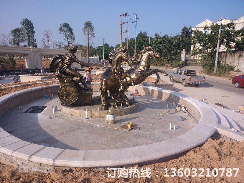 阿波罗战车仿铜雕1