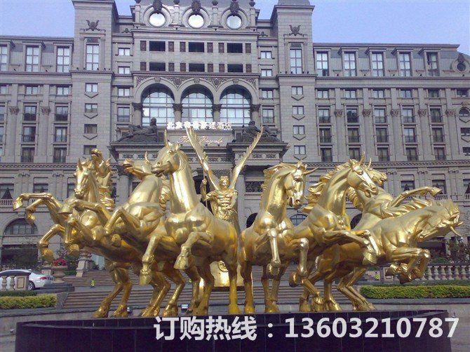 阿波罗战车铜雕塑 房地产铜雕塑
