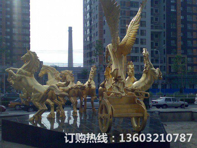 阿波罗战车铜雕塑,房地产铜雕塑