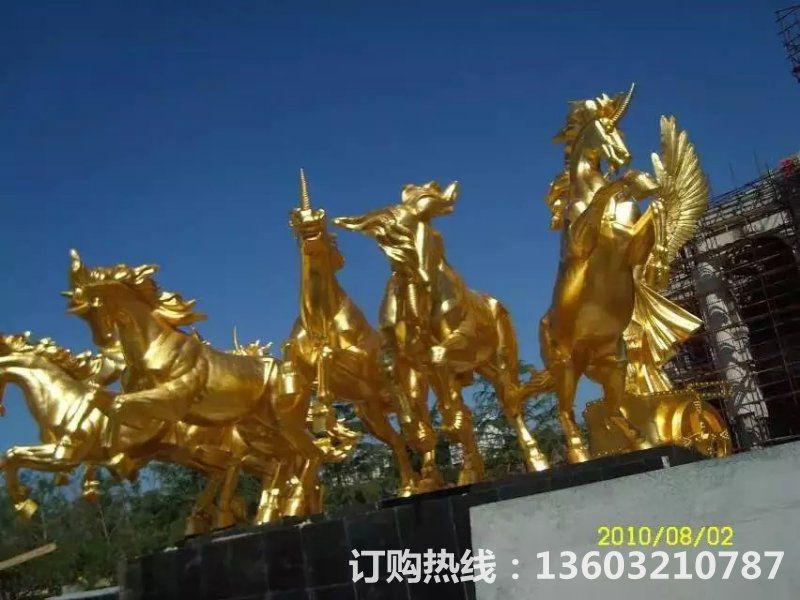 阿波罗战车铜雕塑 房地产铜雕塑[1]