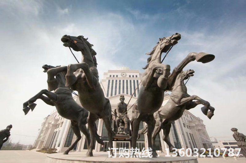 阿波罗战车铜雕塑,房地产铜雕塑1
